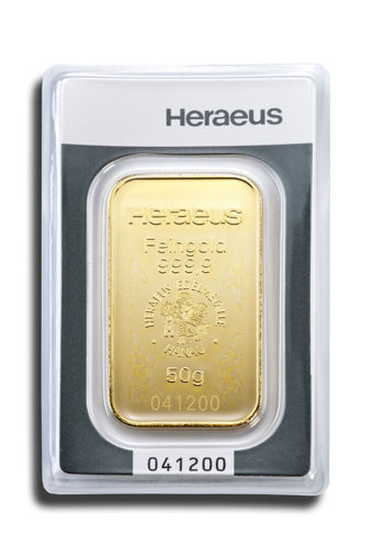 Picture of 50 g Minted Gold bar